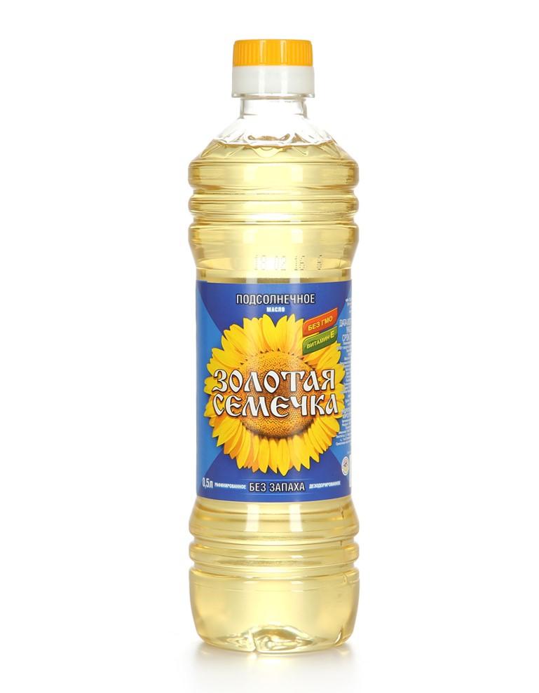 """Масло подсолнечное """"Золотая Семечка"""" рафинированное"""