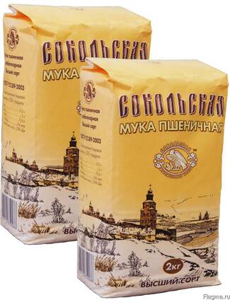 Мука пшеничная Сокольская М54-28 сорт высший ГОСТ
