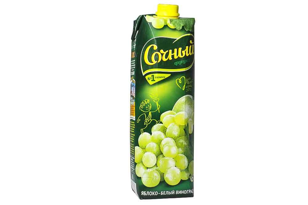 """Яблочно-виноградный нектар """"Сочный"""""""