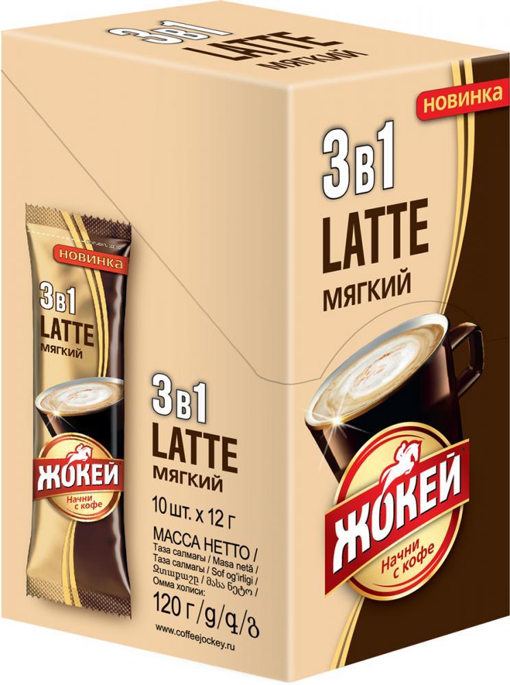 Напиток кофейный растворимый Жокей 3 в 1 Мягкий
