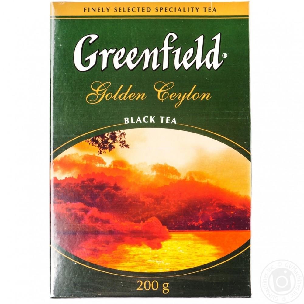 Чай чёрный байховый цейлонский Гринфилд Голден Цейлон