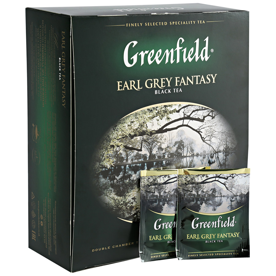 Чай чёрный байховый с ароматом бергамота Гринфилд Эрл грей