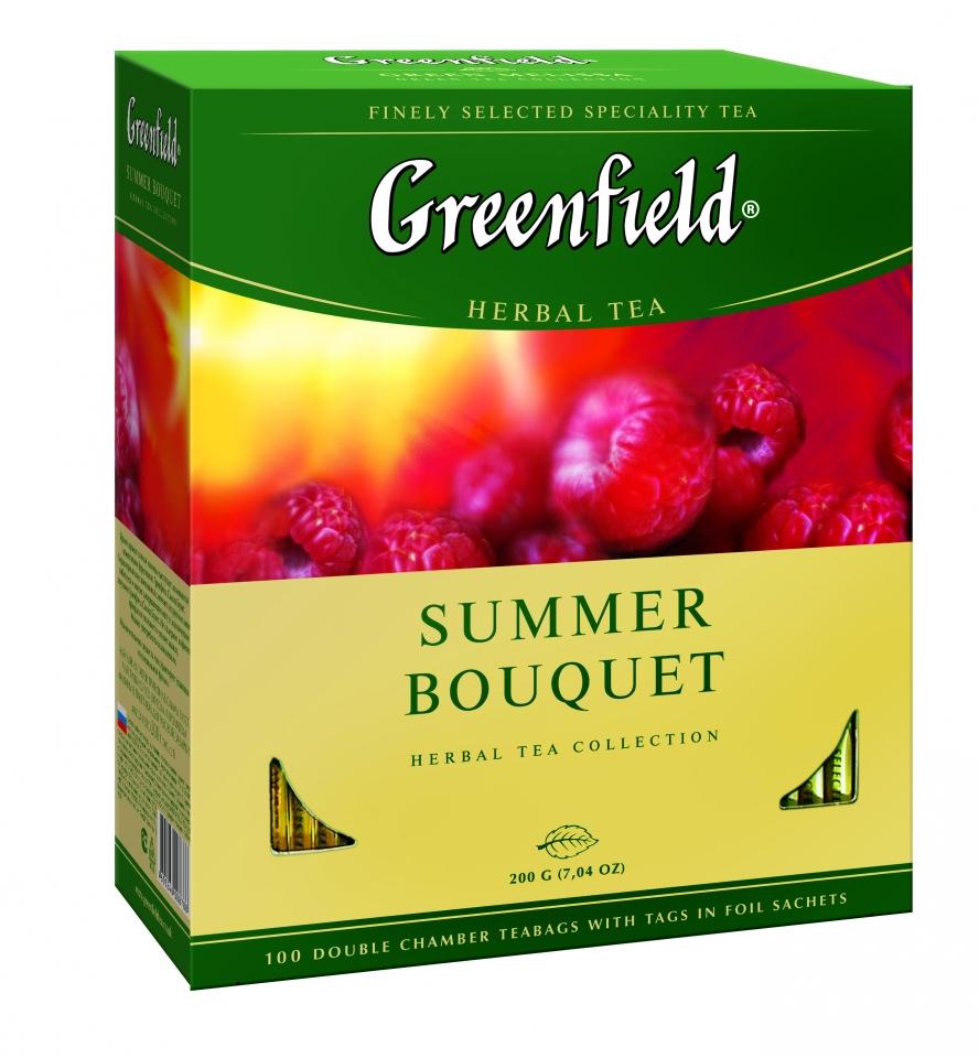 Чайный напиток со вкусом и ароматом малины Гринфилд Самма Букет
